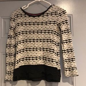 Sweater Blouse Black & White